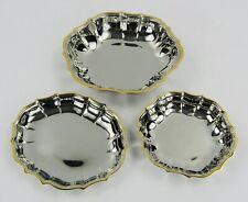 Oneida Golden Royal Chippendale Dish & Bowl Set Stainless 24K Gold Plated Accent