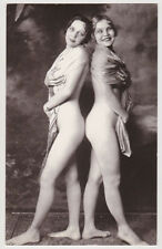 Postcard Nude Sexy French Girls Bare Butt Dancing Cheek to Cheek Post Card 7429