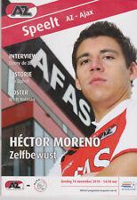 Programme / Programma AZ Alkmaar v Ajax Amsterdam 14-11-2010