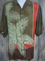 Tommy Bahama Mens L 100% Silk Button Front Shirt Hawaiian Aloha Camp Floral