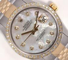 Rolex Datejust Two Tone Gold/SS 36mm-18k Diamond Bezel-White MOP Diamond Dial