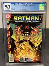 "BATMAN LEGENDS OF THE DARK KNIGHT 118 CGC 9.2 (1989-DC) ""NO MAN'S LAND PART 15"""