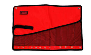 Canvas Roll Pouch Display & Storage f Spanner & Screwdriver File Drill Bits Etc.