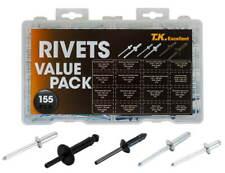 Blind Rivets Aluminum Steel Nylon Pop Rivet Assortment Kit155 Pcs Black Silve