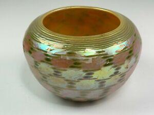 Signed Lundberg Studios 1995 Iridescent Vase / Pot