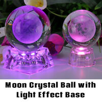 3D Moon Crystal Ball Photography Decor With LED Colorful Light Effect Kids