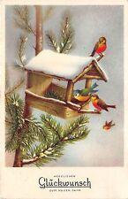 BG4734 bird house   neujahr new year  germany  greetings