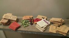 Lot Vintage Monopoly & Uncle Wiggily Pieces Wood Houses Hotels Cards Tokens Die