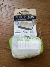 Sea To Summit Aeros Down Pillow Size L In Lime $69.95