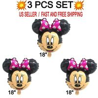 """Minnie Mouse Head Large Foil Balloon Birthday Party Decoration 18"""" Big Size AAA"""