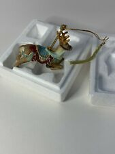 Lenox The Christmas Carousel Collection Ornament Rain deer Fine Porcelain 1989