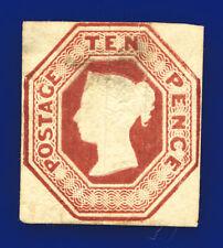 More details for 1848 sg57 10d brown 4 margins h2(1) mint 60% gum cat £11500 diks