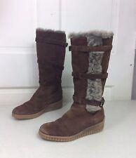 AQUATALIA Fur Boots Shearling Lined Women's 6