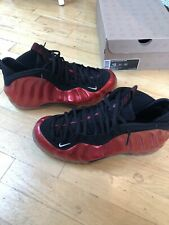NIKE AIR FOAMPOSITE ONE RED METALLIC 314996-610 MEN SIZE 12 WORN 2x
