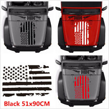 20''x35'' Black USA Flag Style Decals Car Truck Hood Window Vinyl Decal Sticker