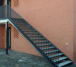 Fire Escape Staircase / External Staircase / Fire Escape Stairs / Bespoke Made