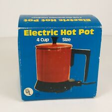 Vintage Electric Hot Pot 4 Cup Green New in Box Green Enameled Aluminium Compact