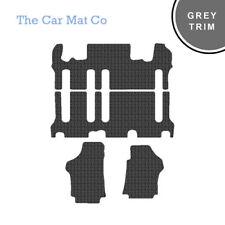 Hyundai I800 2008-Present Fully Tailored Black Rubber Car Mats With Grey Binding