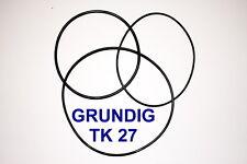 COURROIES SET GRUNDIG TK27 MAGNETOPHONE A BANDE EXTRA FORT NEUF FABRIQUE TK 27