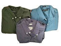 J Crew Mens Size Large Slim Fit Button Down Long Sleeve Shirts Lot Of Three (3)