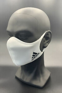 One (1) Adidas White Athletic Face Mask Cover Authentic Size Small Originals