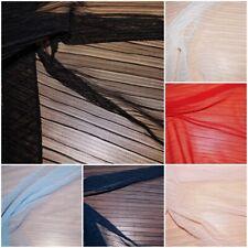 XXL Plissee Netz Jersey Stoff Tüll 6 Farben: schwarz weiß rot blau rosa #0560