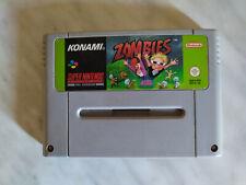 ZOMBIES Super Nintendo SNES PAL (no zelda castlevania whirlo yoshi mario kart)