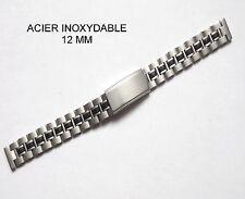 BRACELET MONTRE HOMME ÀCIER INOXYDABLE 12 mm REF 062824