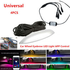 4Pcs Car Fender Wheel Eyebrow LED Colorful Music App Control Ambient light 360°