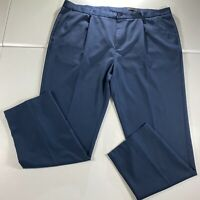 Greg Norman Golf Pants Mens Size 44 x 32 Navy Blue Chino Casual Slacks Golfing