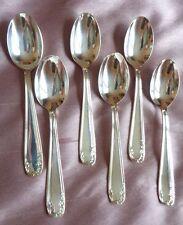 6 petites cuillères métal argenté modèle filets fleurs & feuillages Effet miroir