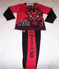 Star Wars Darth Maul Sith Boys Red Black Printed Pyjama Set Size 6 New