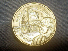 """1992-100th Anniversary Coin From Ellis Island """"Hungary"""" FREE SHIPPING"""