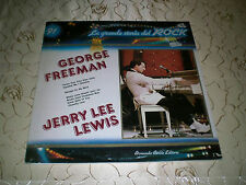 "GEORGE FREEMAN / JERRY LEE LEWIS (LP)-> ""LA GRANDE STORIA DEL ROCK 91"" M-"