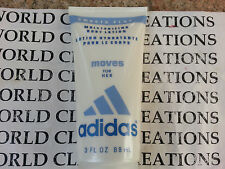 ADIDAS MOVES FOR WOMEN BY COTY-3.0 OZ/88 ML MOISTURIZING BODY LOTION - NO BOX