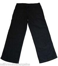 New Womens Black Linen NEXT Trousers Size 8 Regular LABEL FAULT