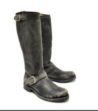 Frye Women's Veronica Slouch Boot In Black Stone Wash UK 7 EU 41 US 9 BT03 86