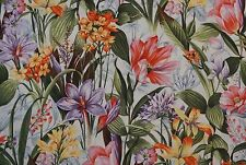 LARGE COLORFUL FLORAL GARDEN  - 100% Cotton Quilt Fabric *by the 1/2 yard* BTHY
