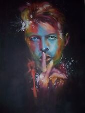 David Bowie 28x16 oil painting NOT print/poster Framing Avail space oddity