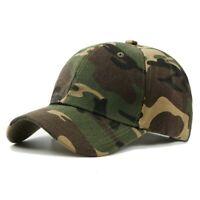 Cotton Baseball Hat Camouflage Adjustable Classic Plain Ballcap Peaked Cap