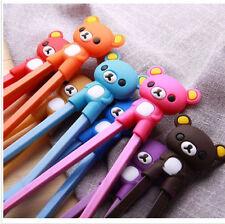 New Pretty Bear Rubber Children training chopsticks randomization sent 3pairs