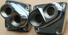 **Harley 18600-66 18610-66 Shovelhead Chrome Tappet Blocks Front & Rear Set #346