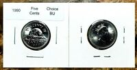 Canada 1990 Five Cents Choice BU From an Original Roll!!