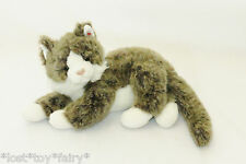 Ty Classic O'Malley White Brown Kitty Cat Long Hair Stuffed 2002 Plush Toy 14""