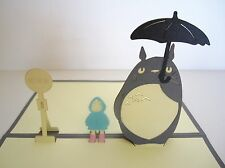 3D My Neighbour Totoro Greeting Christmas Cards Pop Up Cards for All Occasions
