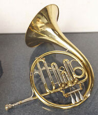 "Altes Messing Waldhorn Blassinstrument "" Weltklang ""mit Mundstück im Koffer"