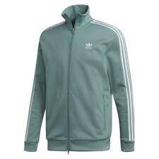 Adidas Original HERREN Beckenbauer Trainingsjacke Dampf Stahl Grün Voll Zip Sale