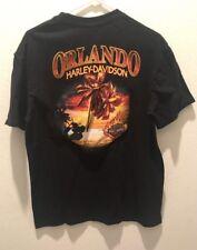 Harley Davidson Motorcycles MC Orlando FL USA Live Now Pay Later T Shirt  Large