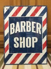 BARBER SHOP Metal Decor Shave Oster Clipper Hair Nail Salon Polish Vintage Style