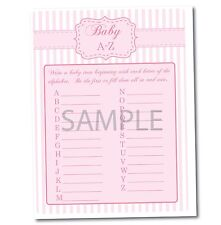 Pink Baby Girl Set of 8 Printable Shower Games